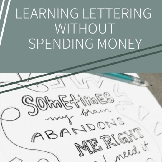 Learning Lettering Without Spending Money