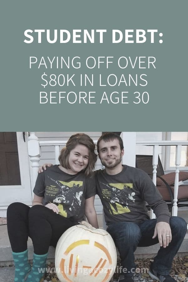 student loan payoff $85K millennial couple 3 years