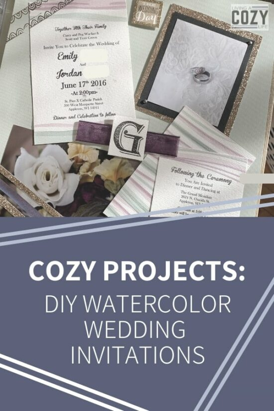 DIY watercolor wedding invitations