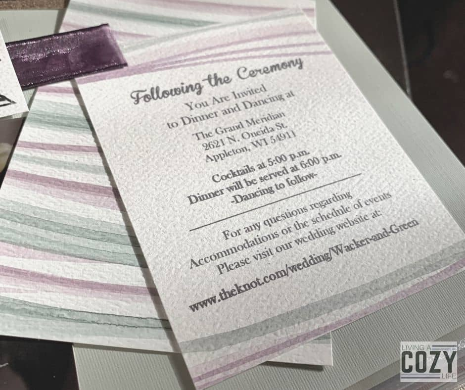watercolor wedding invites DIY example