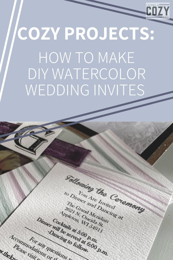 How to make DIY watercolor wedding invites
